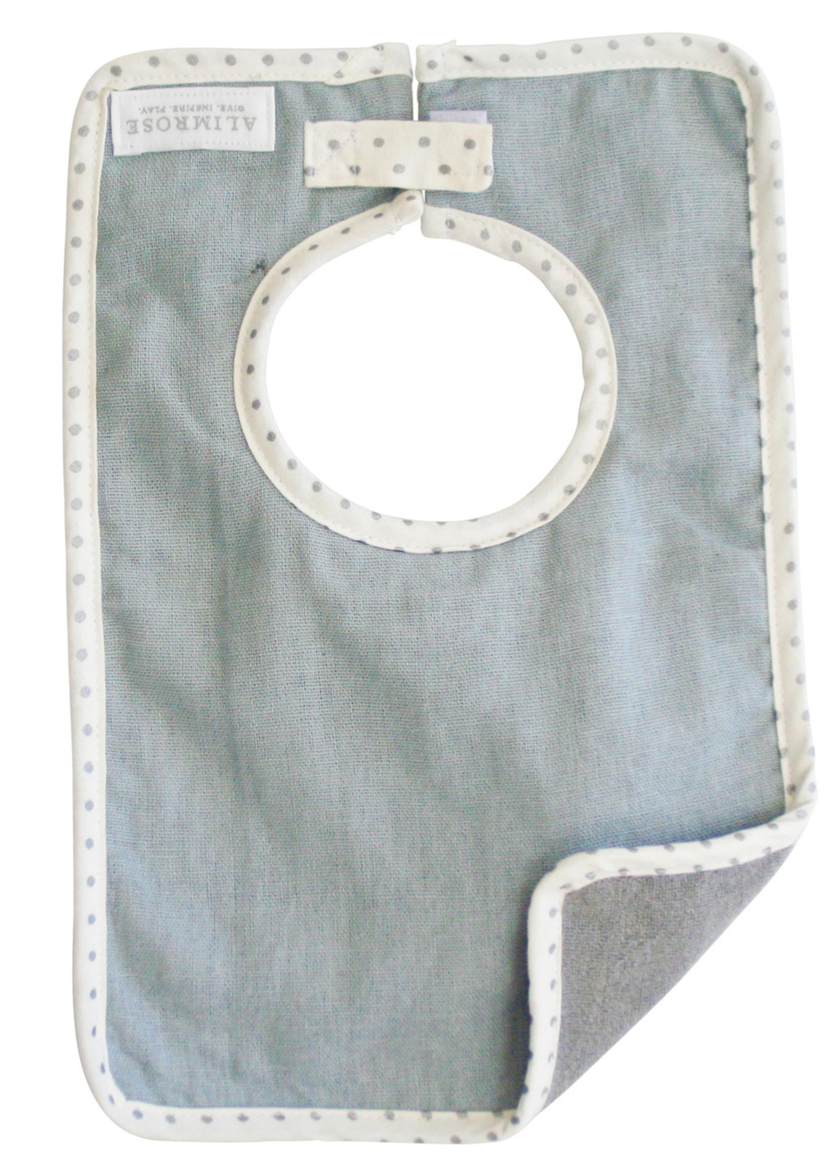 alimrose Bobby Bib in Grey Linen
