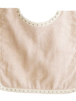 alimrose Bobby Bib in Pink Linen