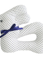 alimrose My First Bunny Rattle in Navy Spot