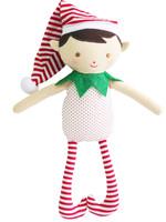 alimrose Cheeky Boy Elf Rattle in Red