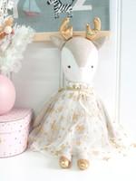 alimrose Angelica Reindeer Gold Star print