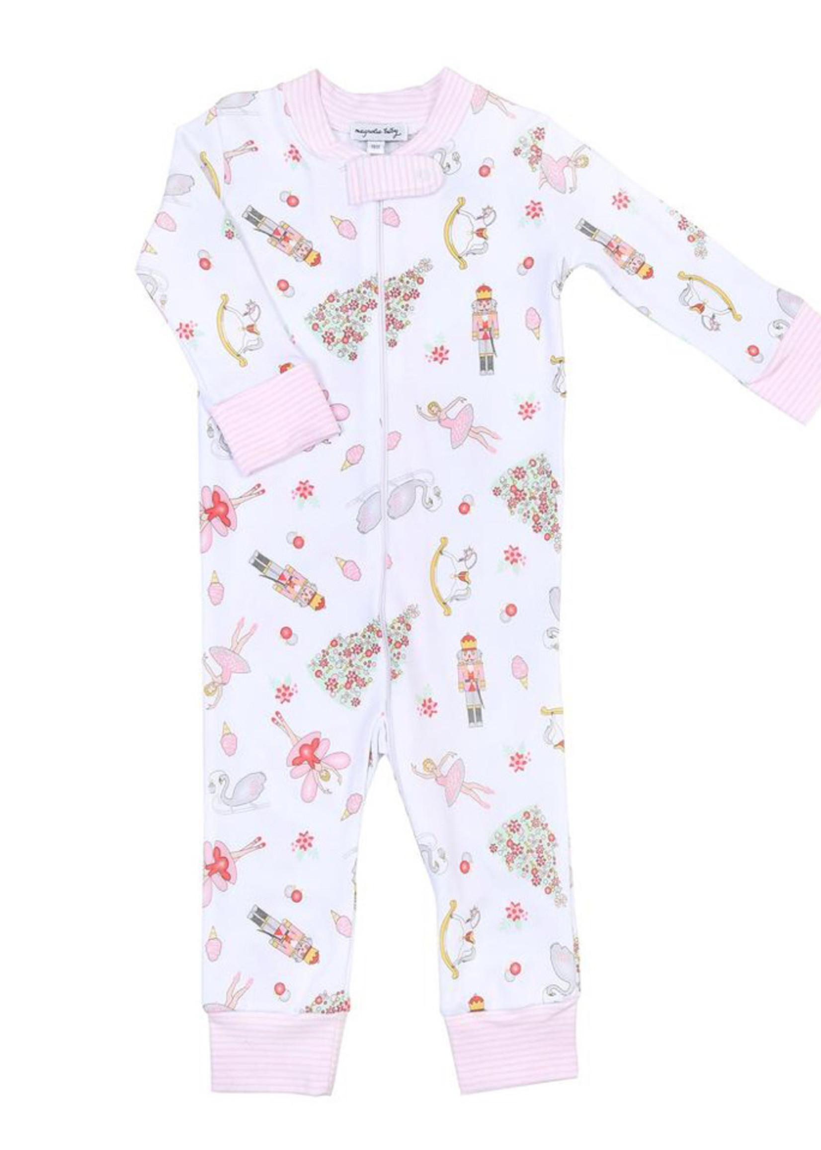 magnolia baby Nutcracker Dreams Zippered Pajamas