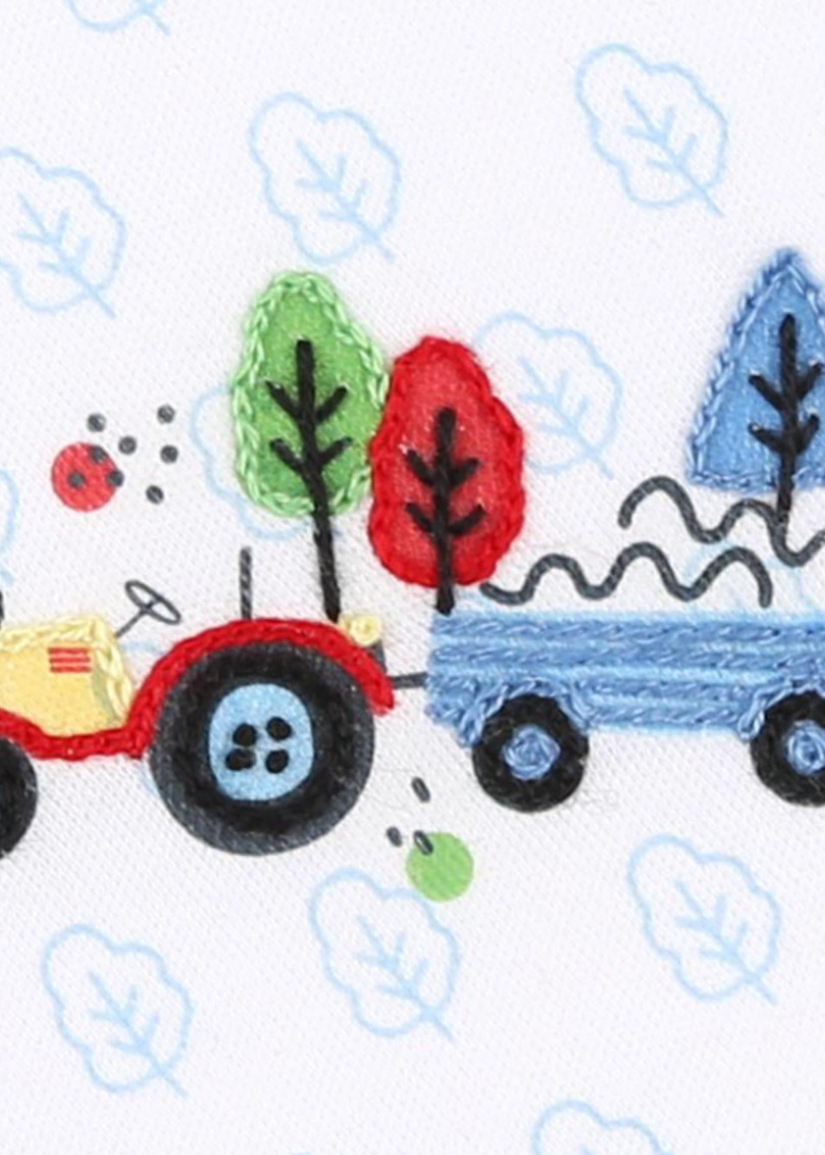magnolia baby Tremendous Tractors Emb Diaper Cover Set