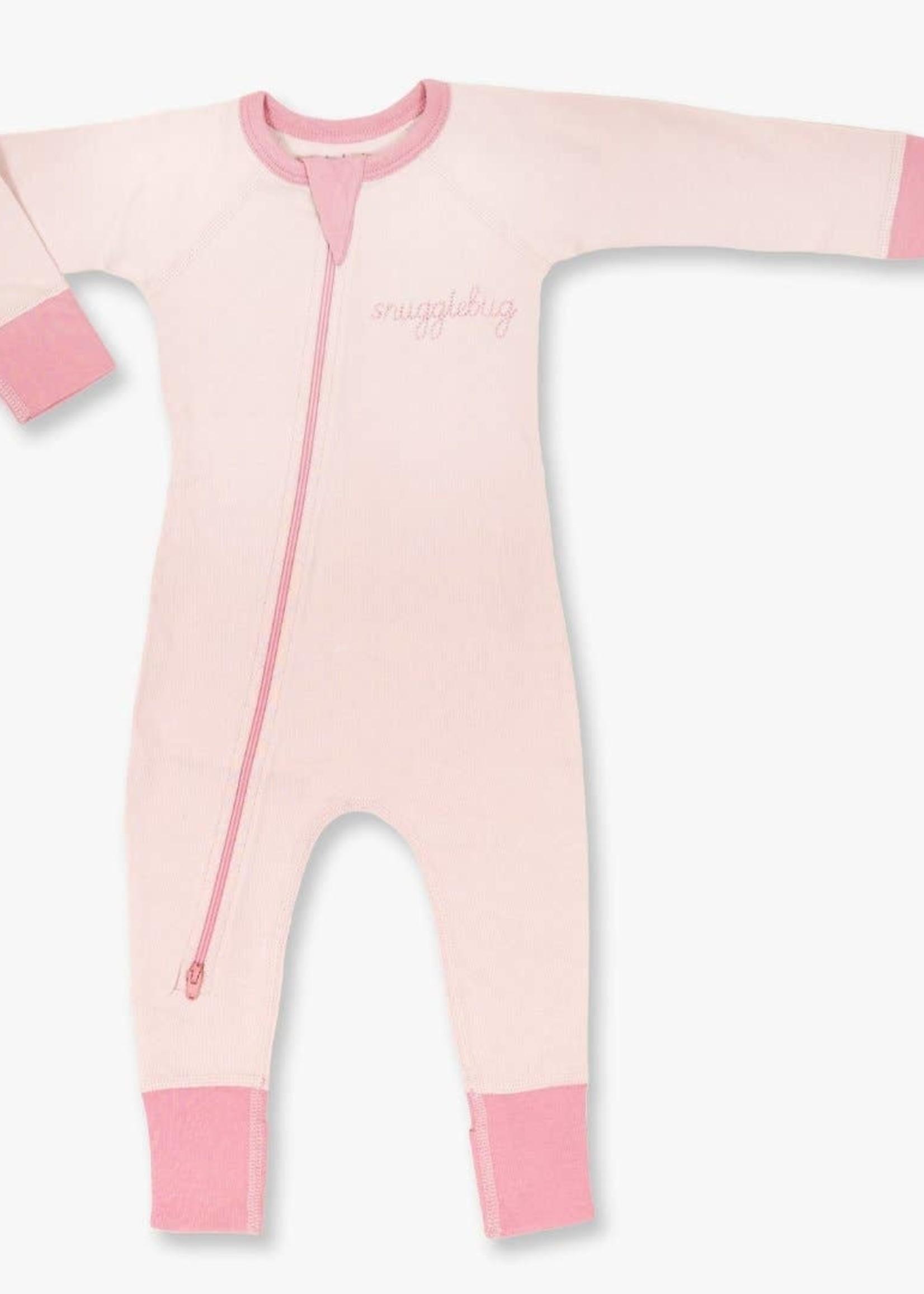 "Sapling Child Pink ""Snugglebug"" Zip Romper"