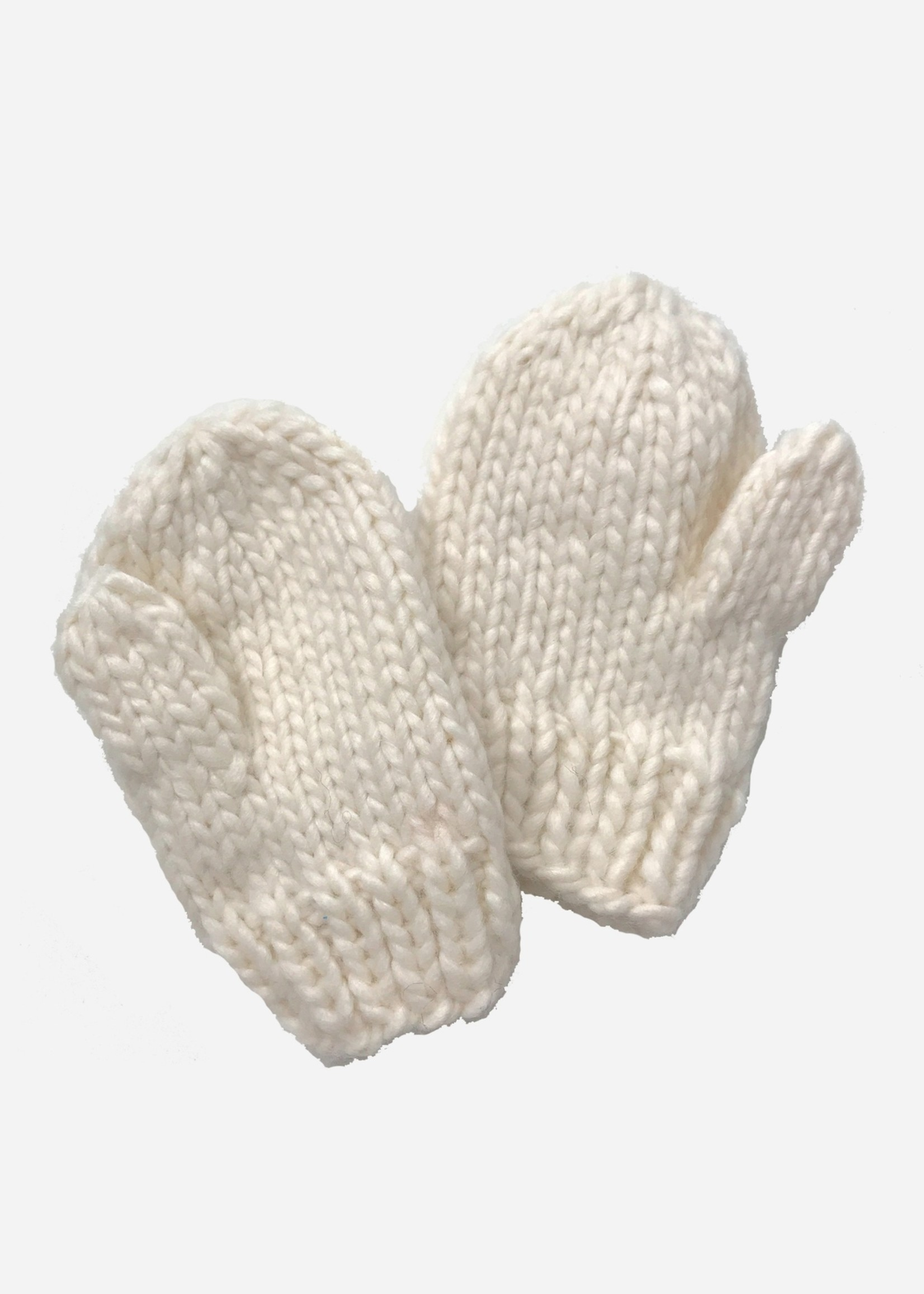 the blueberry hill Mittens- Cream