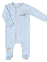 magnolia baby Picking Pumpkins Embroidered Footie