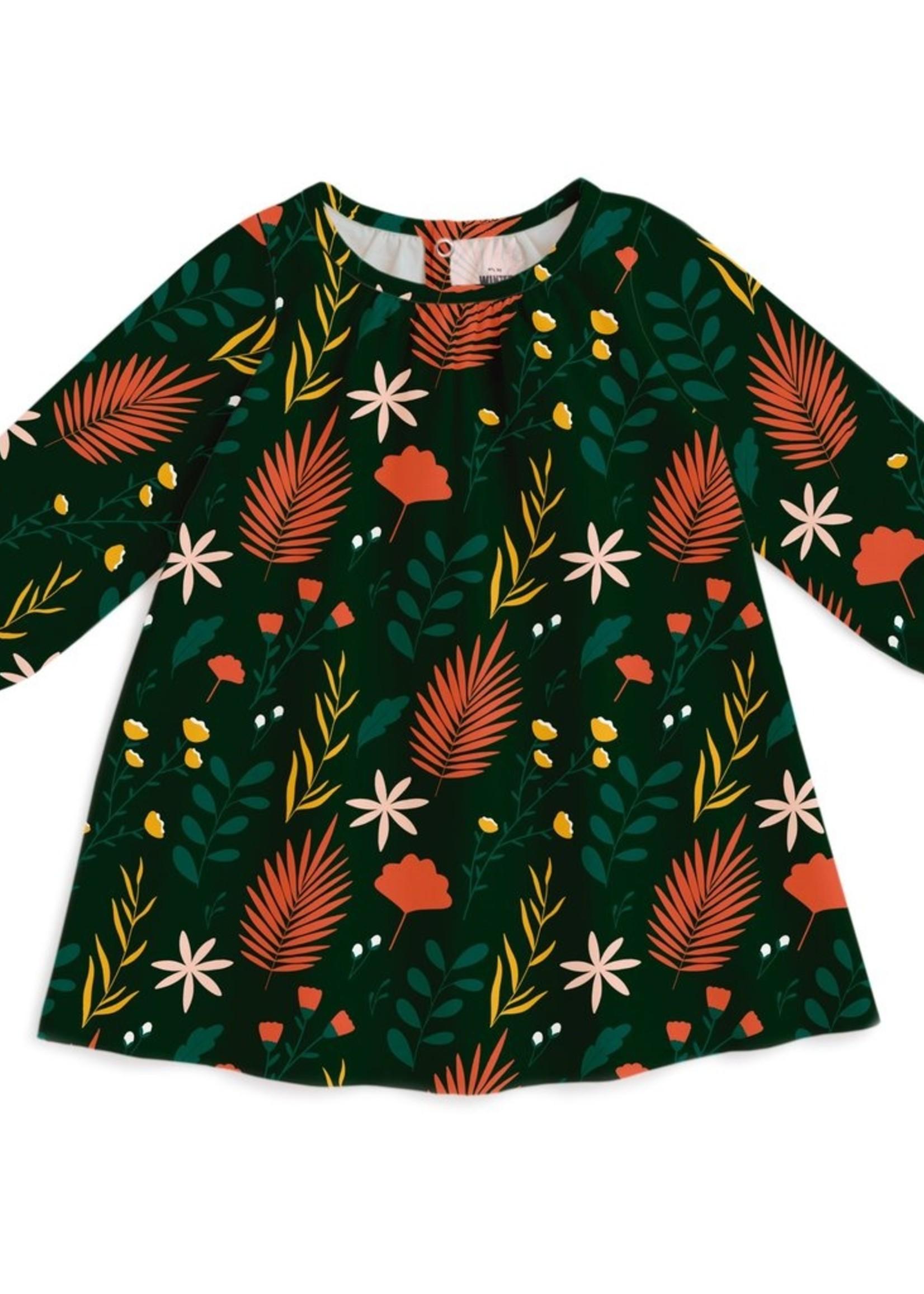 winterwaterfactory Garden Green Juniper Baby Dress