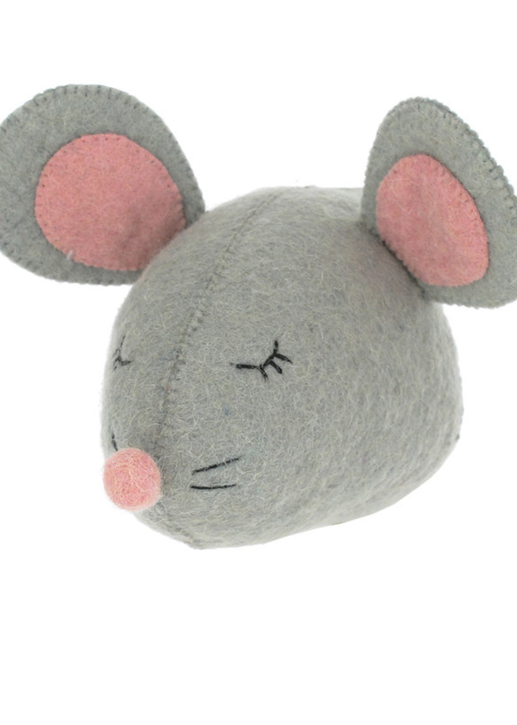 fiona walker england Mini Sleepy Mouse Head Wall Decor