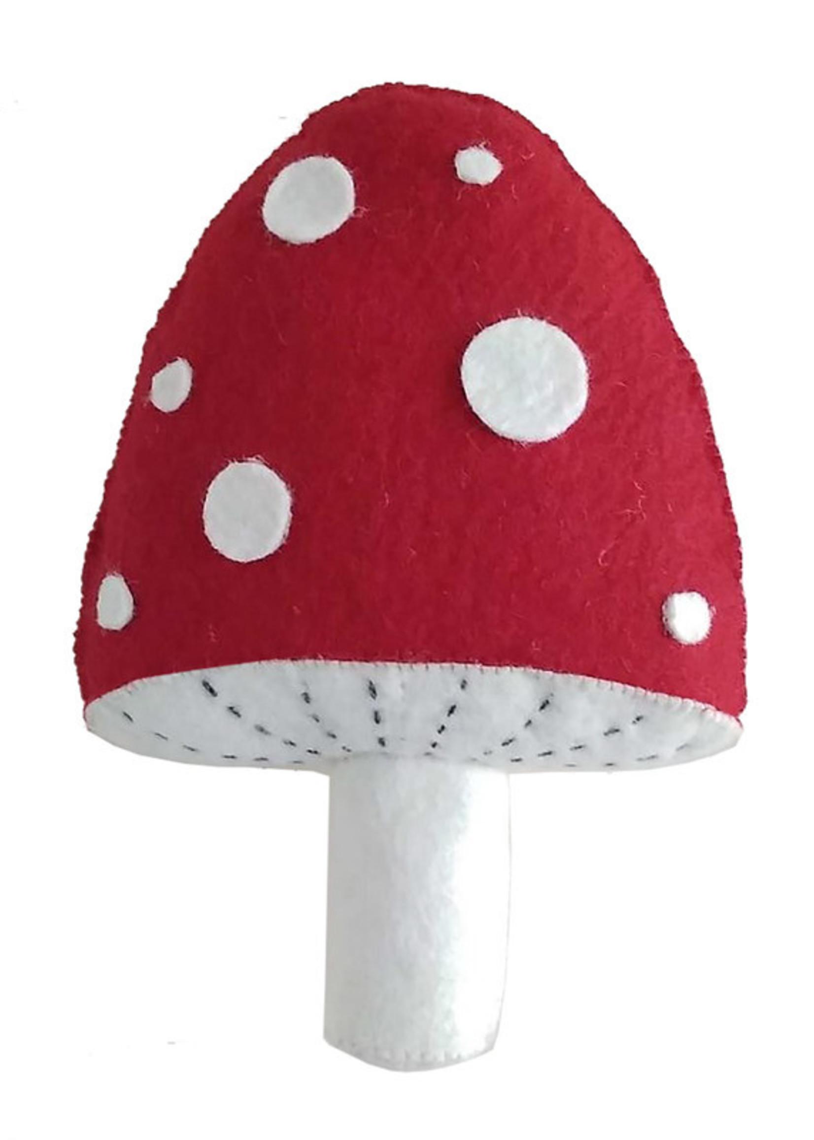 fiona walker england Mini Red Mushroom Wall Hangin