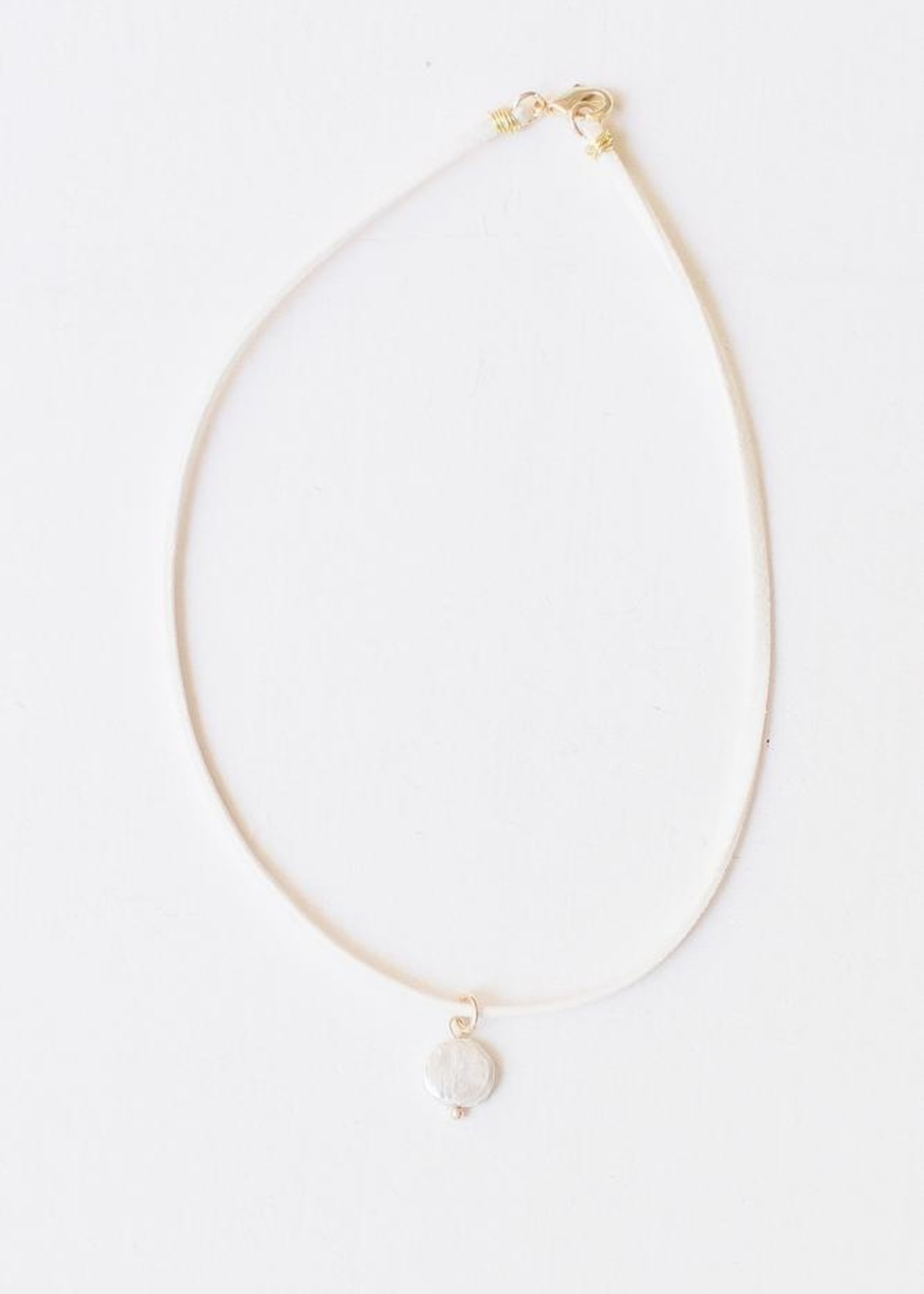 Leslie Curtis Jewelry Designs Rose White- Pearl Necklace
