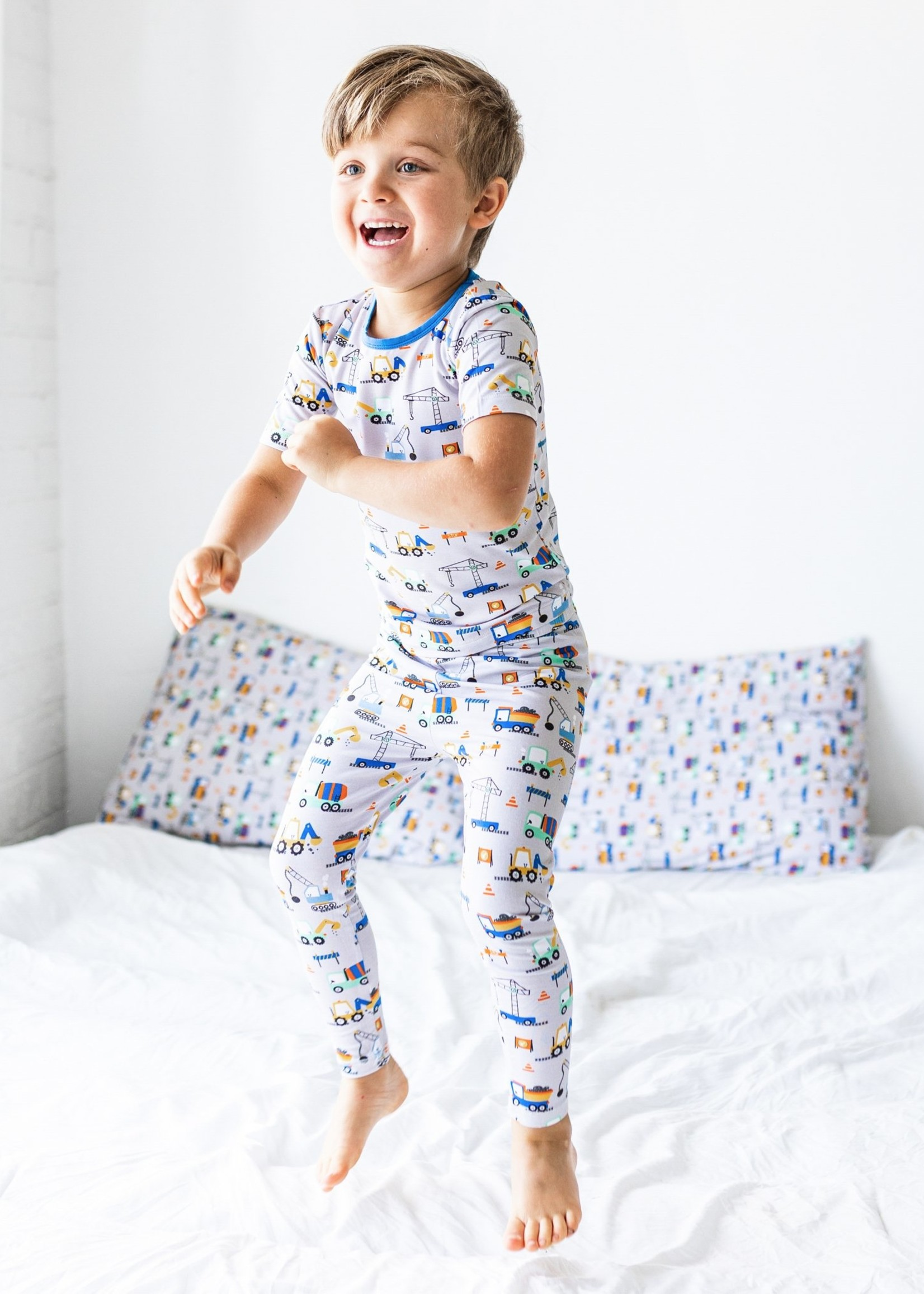 Macaron + Me Construction Short Sleeve Pajama Set