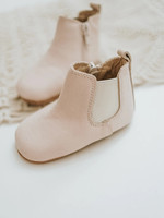 Consciously Soft Sole Baby Waxed Leather Boots - Petal Pink