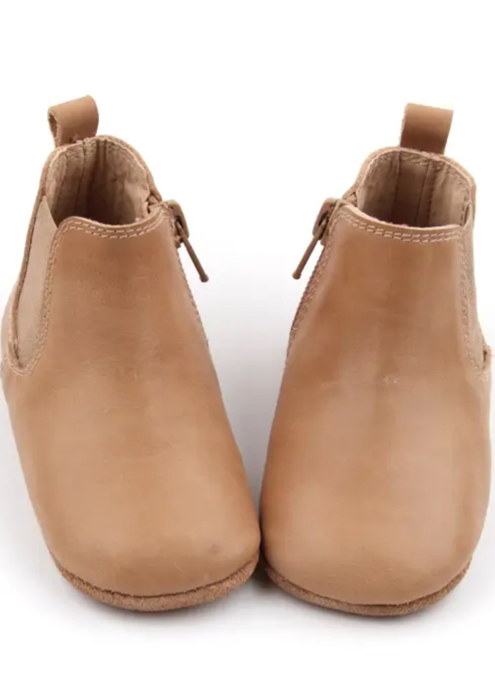 Consciously Soft Sole Baby Waxed Leather Boots