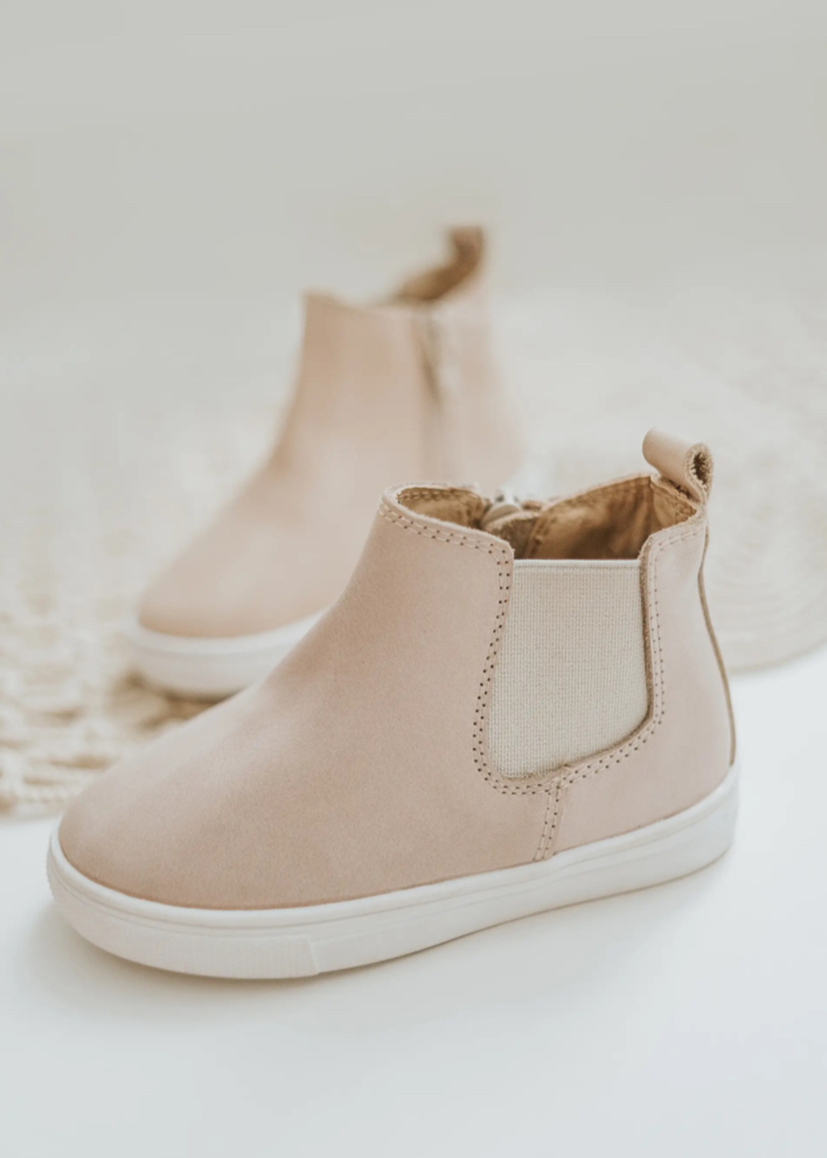 Consciously Hard Sole Toddler Waxed Boots - Petal Pink