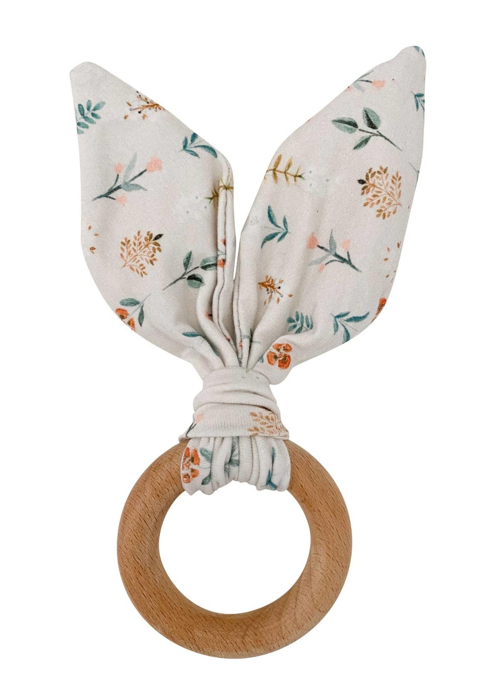 chewable charm Crinkle Bunny Ear Teethers