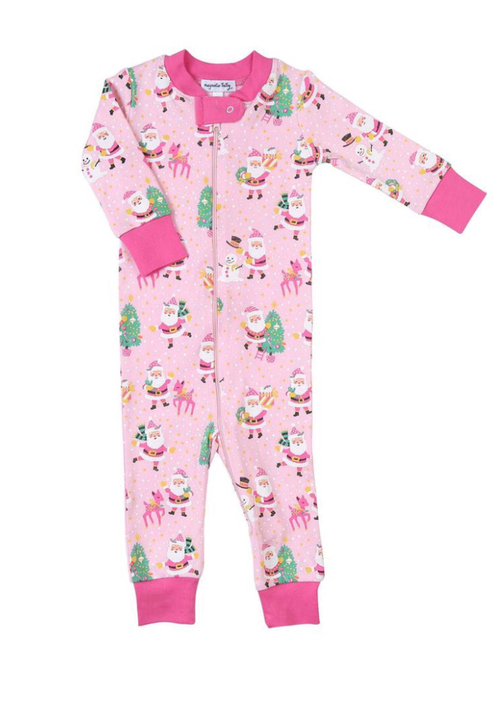 magnolia baby Jolly Santa Zippered Pajama