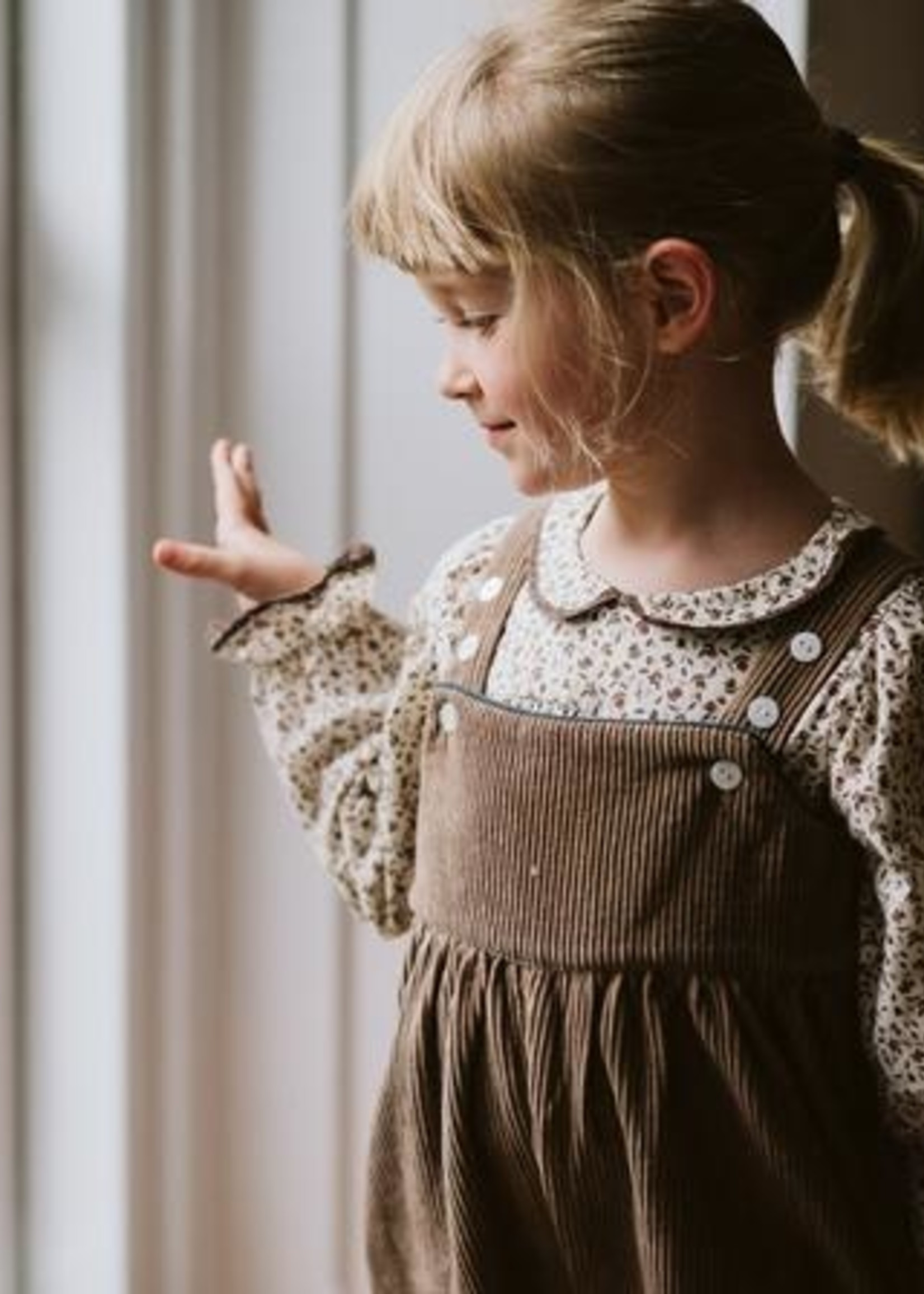 Little Cotton clothes Margo Dungarees in Oak Cord