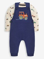jojo maman bebe Tractor Dungaree Set