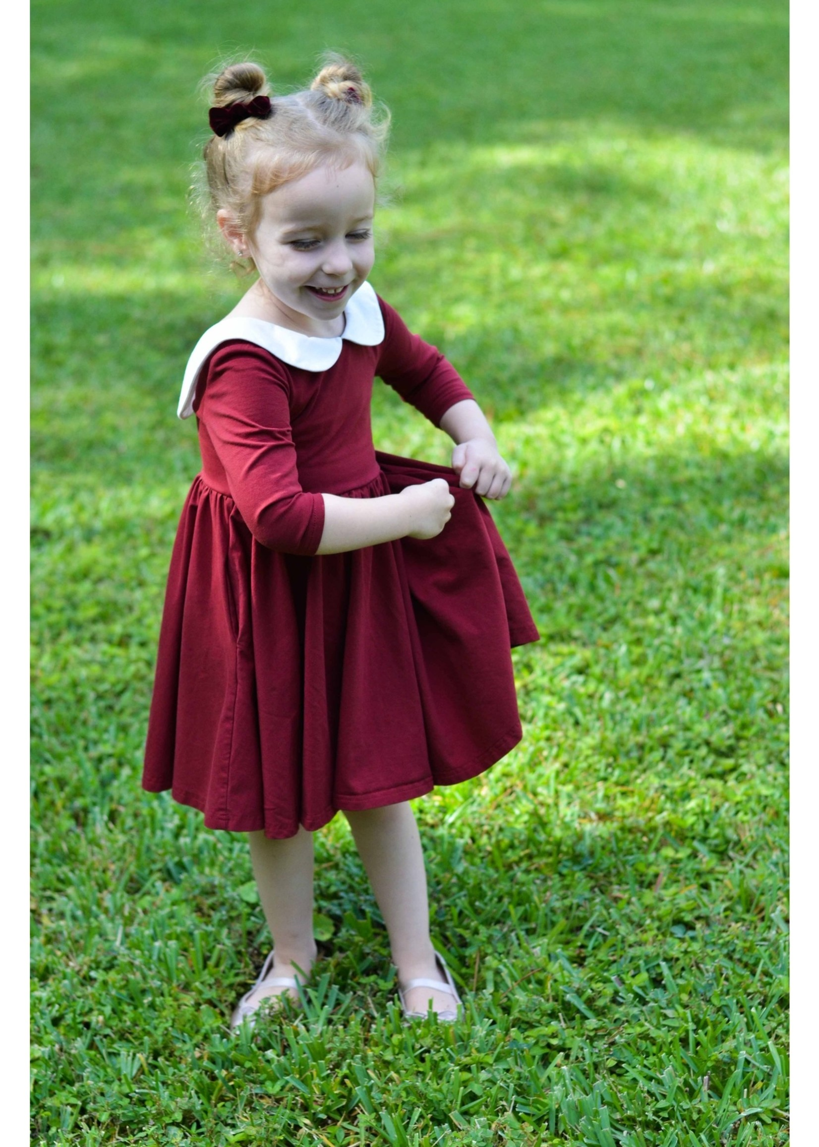 ollie jay Cranberry Twirl Dress