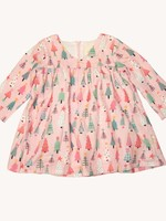 charming mary Pink Trees Dress