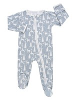 Emerson & Friends White Christmas Holiday Bamboo Baby Footed Pajamas