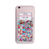 Packed Party Stick To It Multi Confetti Phone Card Holder