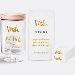 Gratitude Glass Jars LLC Wish Glass Jar