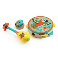 Djeco Animambo 3 Pc Set Tambourine