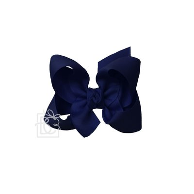 "Beyond Creations 1.5"" Grosgrain, 4.5"" Lg Bow w/ Knot on Alligator Clip -"