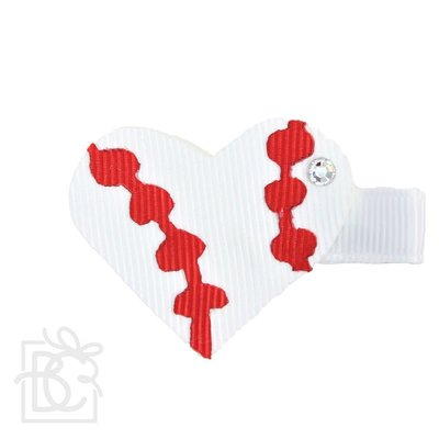 """Beyond Creations 1.5"""" Heart Shaped on Pinch Clip"""