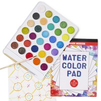 Hotaling Imports Wondrous Watercolor Paint Kit - 30 Paints + Paper Pad & Paint Brushes