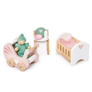 Tender Leaf Toys Dovetail Nursery Set for Dollhouse