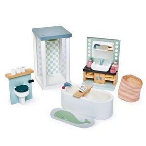 Tender Leaf Toys Dovetail Bathroom Set for Dollhouse