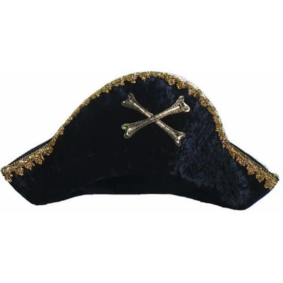 Creative Education Captain Hook Pirate Hat - Black