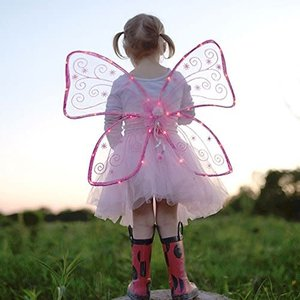 Creative Education Magical Light Up Wings, Hot Pink