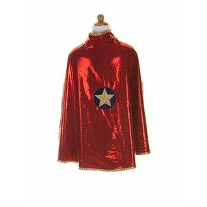 Creative Education Reversible Wonder Cape, Gold and Red, Size 5-6