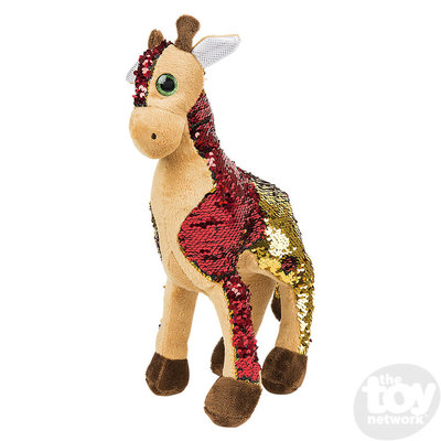 "The Toy Network Sequin Giraffe Plush Stuffed Animal (15"")"