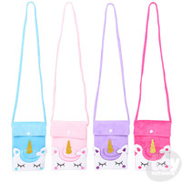 "The Toy Network Unicorn Satchel with 46"" Strap"