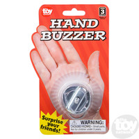 The Toy Network Wind-Up Metal Hand Buzzer Prank Toy
