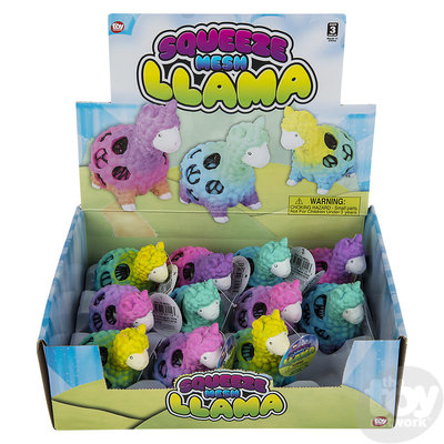 The Toy Network Tie Dye Mesh Squeeze Llama