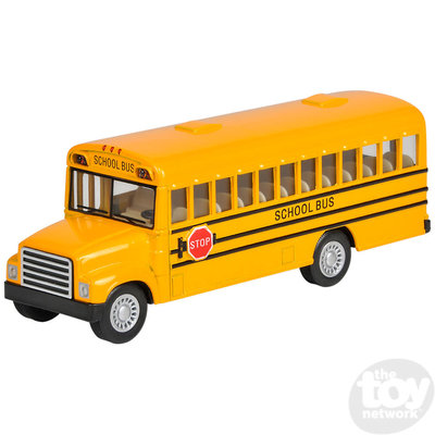 The Toy Network DieCast Pull Back School Bus