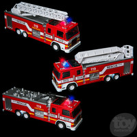 "The Toy Network Die-Cast 7"" Light And Sound Fire Engine Truck"