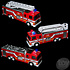 """The Toy Network Die-Cast 7"""" Light And Sound Fire Engine Truck"""