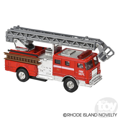The Toy Network Die Cast Metal Pull Back Fire Truck