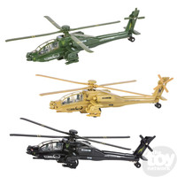 The Toy Network DieCast Pullback Apache Helicopter