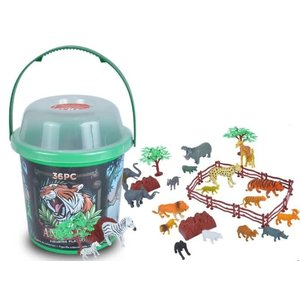 Wild Republic Safari Bucket of Animals - 36 Piece