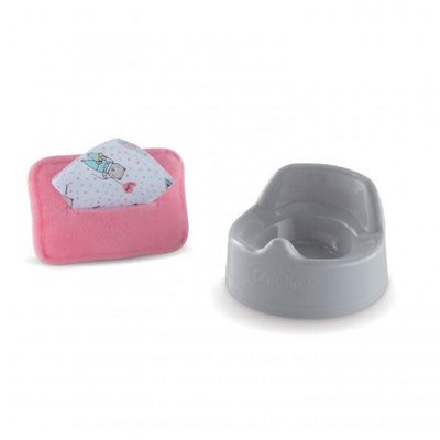 """Corolle BB12"""" Potty & Wipe for Baby Dolls"""
