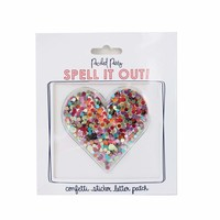 Packed Party Heart Confetti Sticker