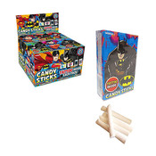 Redstone Foods Candy Sticks W/ Tattoo - Dc Batman/Superman
