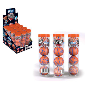 Redstone Foods Vidal Bubble Gum Basketball Tube 4 Ct